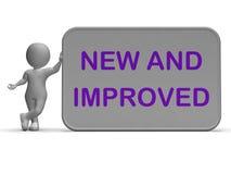 Neue und verbesserte Zeichen-Durchschnitt-Verbesserung Stockfoto