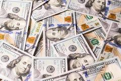 Neue 100 US-Dollars Rechnungen Lizenzfreies Stockbild