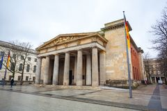 Neue Wache war memorial in Berlin dedicated to all victims of wa. R and dictatorship Royalty Free Stock Photos