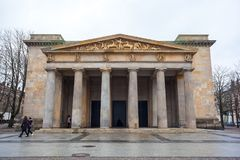 Neue Wache war memorial in Berlin dedicated to all victims of wa. R and dictatorship Royalty Free Stock Photography