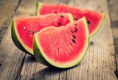 Neue Wassermelonescheiben Lizenzfreies Stockbild