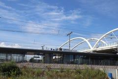Neue weiße Brücke stockfotos