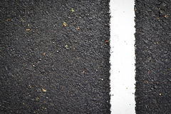 Neue weiße Zeile auf der Straßenbeschaffenheit Stockfotos