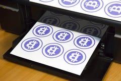 Neue Weltwährung Kryptawährung der Zukunft lizenzfreies stockfoto