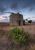 Neue Windmühle der alten Wiese stockfoto