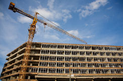 Neue Wohnsite im Bau Lizenzfreies Stockbild