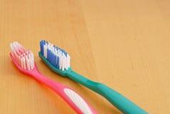 Neue Zahnbürsten Stockfotografie