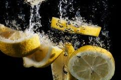 Neue Zitrone-Scheiben Stockfoto