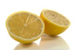 Neue Zitronehälften Stockbild