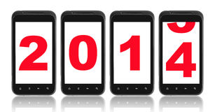 Neuen Jahres 2014 Stockfotografie