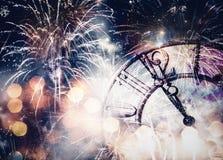 Neuen Jahres um Mitternacht Lizenzfreie Stockbilder