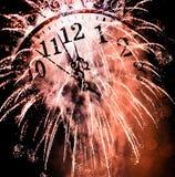 Neuen Jahres um Mitternacht lizenzfreies stockbild