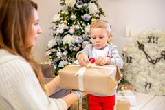 Neuen Jahres und Weihnachtsmotiv lizenzfreie stockbilder