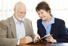 Neuen Klienten sich anmelden Lizenzfreie Stockfotos