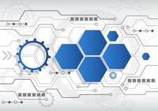 Neuer abstrakter Technologiegeschäftshintergrund, Vektorillustration Stockfoto