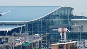 Neuer Anschluss an internationalem Flughafen Phuket stock video