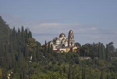 Neuer Athos Monastery Lizenzfreies Stockfoto