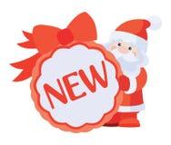 Neuer Aufkleber für Weihnachtsverkauf lizenzfreie abbildung