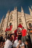 Neuer Bürgermeister Mailands - Giuliano Pisapia Lizenzfreies Stockfoto