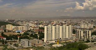 Neuer Bau von Gebäuden in Ulaanbaatar, Stockbild