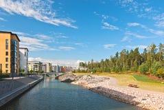 Neuer Bereich von Helsinki, Finnland. Stockfotos