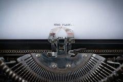 Neuer Blitz geschrieben auf Schreibmaschine Lizenzfreie Stockbilder