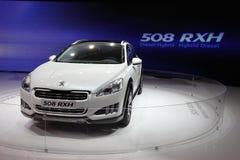 Neuer Diesel-Mischling Peugeot-508 RXH stockfotos