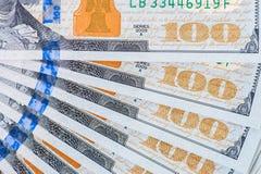 Neuer Dollarschein US 100 Lizenzfreie Stockbilder
