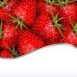 Neuer Erdbeere-Hintergrund Stockfotos