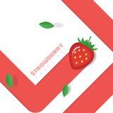 Neuer Erdbeerfruchthintergrund in der Papierkunstart Stockfoto