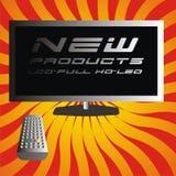 Neuer Fernsehapparat Lizenzfreies Stockbild