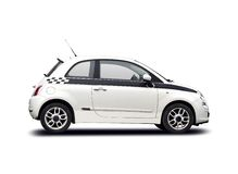 Neuer Fiat 500 Stockfoto
