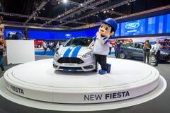 Neuer Ford Fiesta auf Anzeige stockfoto