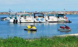 Neuer Hafen in der Block-Insel, Rhode Island Lizenzfreies Stockbild