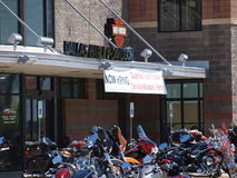Neuer Harley Store Stockfoto