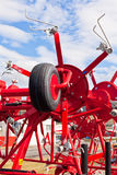 Neuer Hay Raker Farm Equipment Detail Stockfoto