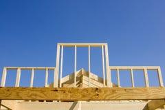 Neuer Holzrahmenaufbau Lizenzfreies Stockbild