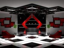Neuer Innenraum eines Salons Stockbilder