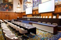 Neuer Internationaler Gerichtshof Courtroom Stockfotos