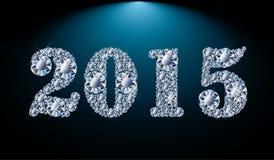 Neuer 2015-jähriger Diamanthintergrund Stockfotos