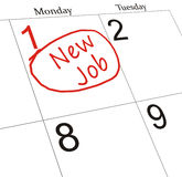 Neuer Job Lizenzfreie Stockfotografie