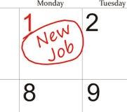 Neuer Job Lizenzfreies Stockbild
