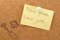 Neuer Job des Aufklebers des neuen Jahres Stockfotografie