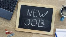 Neuer Job im Büro lizenzfreies stockfoto