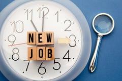 Neuer Job Time Lizenzfreies Stockfoto