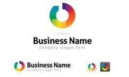 Neuer Kreis-Unternehmenszeichen Stockbild