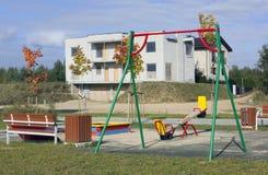 Neuer leerer Spielspielplatz Stockfotos