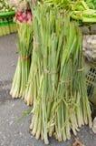 Neuer Lemongrasverkauf im Frischmarkt stockbilder
