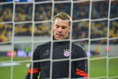 Neuer before the match FC Shakhtar-FC Bayern. UEFA Champions League Royalty Free Stock Image