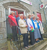 Neuer Minister an der unitarischen Kirche in Aberdeen Stockbilder